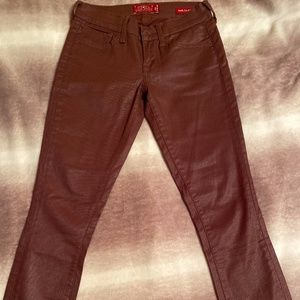 Lucky Brand Maroon Skinny Jeans